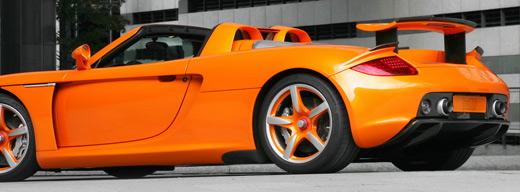 Porsche Carrera GT в действии